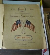 1898 Stieff Pianos Baltimore Maryland 56th Anniversary Program Song Book Flags