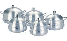 10PC BELLY POT SET CASSEROLE SET COOKING PAN ALUMINIUM SAUCEPAN STOCKPOT SET POT