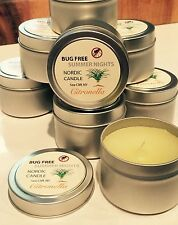 Citronella Candle, Bug Free Summer Nights - 4 oz tin, by Nordic Candle
