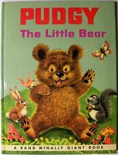 PUDGY THE LITTLE BEAR ~ Barrows ~ Vintage Children's GIANT Rand McNally Book