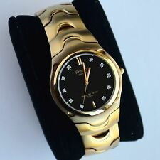 Armitron Mens 10 Genuine Diamond Accent Gold-Tone Bracelet Watch New Without Tag