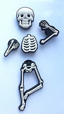 3D Skeleton Bones Shoe Charms - 5 Pieces For Crocs Jibbitz