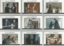 """Game of Thrones Season 6 - """"Relationships"""" 10 Card Chase Set #DL31-40"""