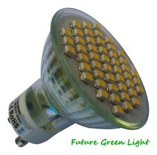 GU10 48 SMD LED 240V 3.5W 210LM DIMMABLE WARM WHITE BULB ~50W