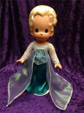 "PRECIOUS MOMENTS DISNEY FROZEN ELSA SISTER OF ANNA 12"" *SIGNED* DOLL WITH STAND"