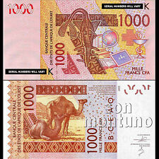 2003 / 2014 WEST AFRICAN STATES Senegal 1000 francs Banknote  SEQUENTIAL NUMBERS