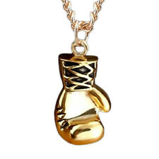 Trendy Female Stainless Steel Boxing Glove Pendant Necklace Chain Exquisite