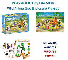 PLAYMOBIL City Life 5968 - Wild Animal Zoo Enclosure Playset