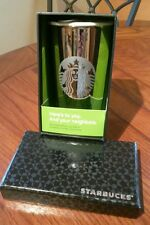 Starbucks 2012 Limited Edition Ceramic Tumbler - White Gold 12oz NIB!!!!! W/TAG