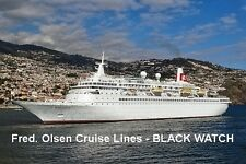 SOUVENIR FRIDGE MAGNET of CRUISE SHIP BLACK WATCH - FRED. OLSEN LINES