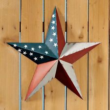 PATRIOTIC AMERICAN METAL PRIMITIVE COUNTRY RUSTIC BARN STAR FOLK ART DECOR TIN