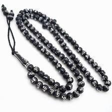 99 Islamic Black Color Prayer Beads Tasbih Engraved Allah Prayer Rosary 01A9