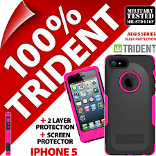 NUOVO Trident Aegis Protettiva Heavy Duty Custodia Rigida Resistente per Apple iPhone 5 Rosa