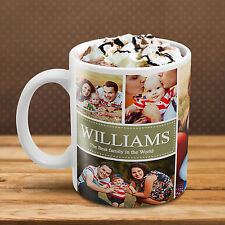 MUG COLLAGE CUSTOM Add YOUR Many PHOTO IMAGE TEXT Personalized Tea Cup Design!