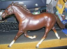 traditional breyer pacer chocolate brown horse w molded bridle headgear