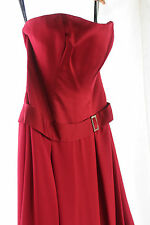 NWT Alfred Angelo Claret Red Bridal Bridesmaid Dress Elegant Prom Gown 6460 12