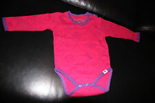 Papfar Body mit Muster 74 pink, 1 Kind