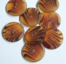 Pack of 10 Tiger Stripe 20mm 2 Hole Knitwear Jacket Coat Buttons     0066