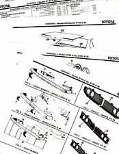 TOYOTA CORONA RT83 RT85 RT93 RT95 MODELS BODY PARTS LIST CRASH SHEETS MOF RE