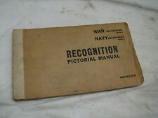 Military 1943 World War II Aircraft Navy Dept Recognition Pictorial Manual WWII