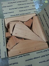 Large Flat Rate Box - Scrap Mahogany Wood - 002