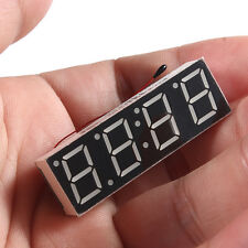 Car Auto Blue Digital LED Electronic Time Clock + Thermometer + Voltmeter