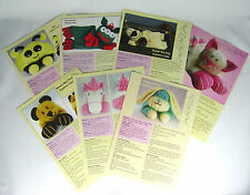 TOY KNITTING PATTERNS Pyjama Case 7 in Collection Soft Toy Patterns Chunky Yarn