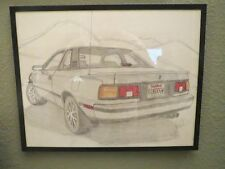 """GOOOOGW"" 1986 TOYOTA CELICA GTS  Original Pencil Drawing by GHW in 1985"