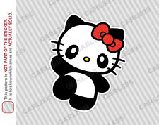 Hello Kitty Panda (A) Car Truck SUV Vinyl Bumper Sticker