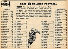 1965 COLLEGE FOOTBALL TV AD~CORNELL BIG RED~DARMOUTH INDIANS~BIG GREEN~NCAA