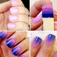 8PCS Nail Art Gradient Sponges Stamping Template Transfer Manicure DIY Tool NICE