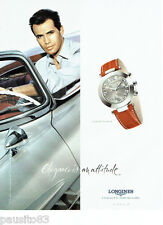 PUBLICITE ADVERTISING  026  2002  Longines montre Dolce Vita & Billy Zage