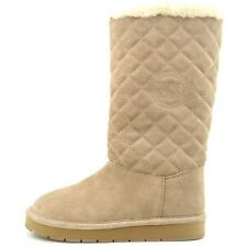 Michael Michael Kors Beige Sandy Quilted Boot Women Size 8