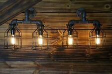 Qty 2- (1 pair)  Edison Age Industrial Light wall Sconces, steampunk Pipe Light