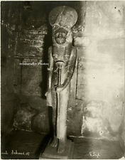 Original Photo, G. Sahe (?) Karnak, Sachmet, ca 1900