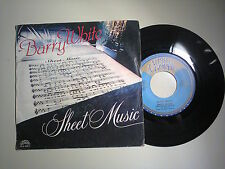 Barry White ‎/ Sheet Music ‎–Disco Vinile 45 Giri 7 Stampa Italia 1980