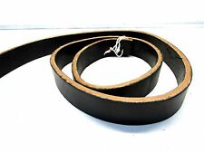 """Cox Leather 1 1/2"""" wide black harness leather thick belt blanks leather craft"""