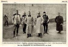 Gruppi immagine dal quartier generale dell'esercito comandanti Dankl immagine documento 1915