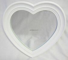 French Provincial Country Style Mirror Heart Shaped With Cream Surround MW108