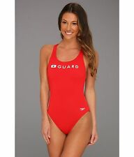 SPEEDO GUARD SUPER PRO ENDURANCE ONE PIECE SWIMSUIT RED SIZE 28 NEW $54