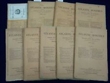 1879 THE ATLANTIC MONTHLY MAGAZINE LOT OF 9 - HENRY W. LONGFELLOW - WR 309