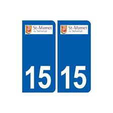 15 Saint-Mamet-la-Salvetat logo ville autocollant plaque sticker droits