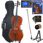 Cecilio Size 4/4 Solid Wood Cello +Hard & Soft Case+Tuner+Book ~4/4CCO-200