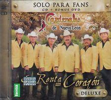 Los Cardenales de Nuevo Leon Se Renta Un Corazon Deluxe CD+DVD New Nuevo