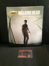 WALKING DEAD CRYPTOZOIC SEASON 4 PART 2 BINDER WITH DARYL METAL CARD