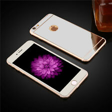 Mirror Front + Back Tempered Glass Screen Protector Film For iPhone 6s Plus 7 5s