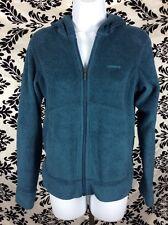 Patagonia Women's Small Teal Fleece Zip Hoodie Sweatshirt Cozy Super Soft