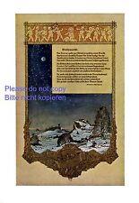 Weihnachten XL Kunstdruck & Gedicht 1913 von Richard Möhlau und RNC Putten +