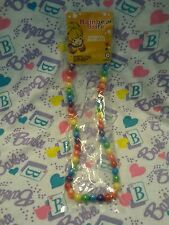 NEW Retro Vintage Style - RAINBOW BRITE - Stretch Bead Costume Necklace