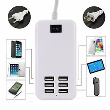 Cargador de pared USB Charger 6 Ports Adapter Travel AC Power Supply Wall Plug